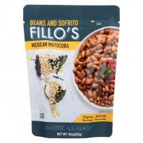 Fillo's Beans - Mexican Mayocoba Mild - Case Of 6 - 10 Oz.