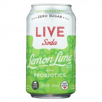 Live Soda - Soda Lemon Lime Probiotic - Case Of 4-6/12 Fl Oz.