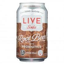 Live Soda - Soda Root Beer Probiotic - Case Of 4-6/24 Fl Oz.