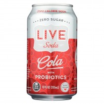 Live Soda - Soda Cola Probiotic - Case Of 4-6/12 Fl Oz.
