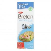 Dare Breton Crackers - White Bean Salt And Pepper - Case Of 6 - 4.2 Oz.