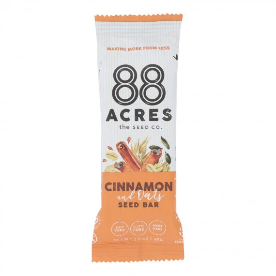 88 Acres - Seed Bars - Oats And Cinnamon - Case Of 9 - 1.6 Oz.