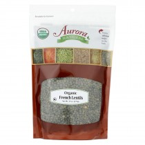 Aurora Natural Products - Organic Lentils - French - Case Of 12 - 24 Oz.
