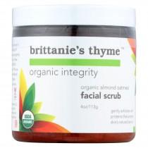 Brittanie's Thyme - Organic Facial Scrub - Almond Oatmeal - 4 Oz.