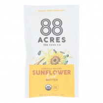 88 Acres - Seed Butter - Organic Vanilla Spice Sunflower - Case Of 10 - 1.16 Oz.