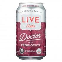 Live Soda - Soda Doctor Probiotic - Case Of 4-6/12 Fl Oz.