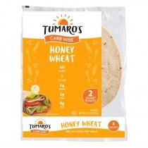 "Tumaro's - 8"" Carb Wise Wraps - Honey Wheat - Case Of 6 - 8 Count"