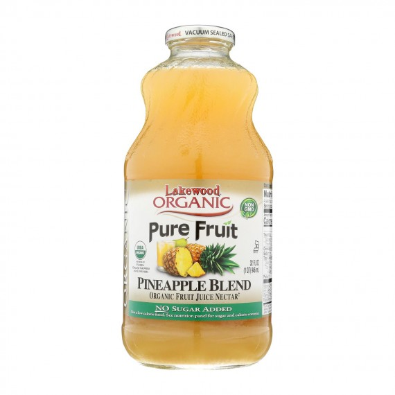Lakewood - Organic Nectar - Pineapple - Case Of 6 - 32 Fl Oz.