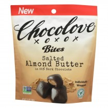 Chocolove Xoxox - Bites - Dark Chocolate Almonds And Sea Salt - Case Of 8 - 3.5 Oz.