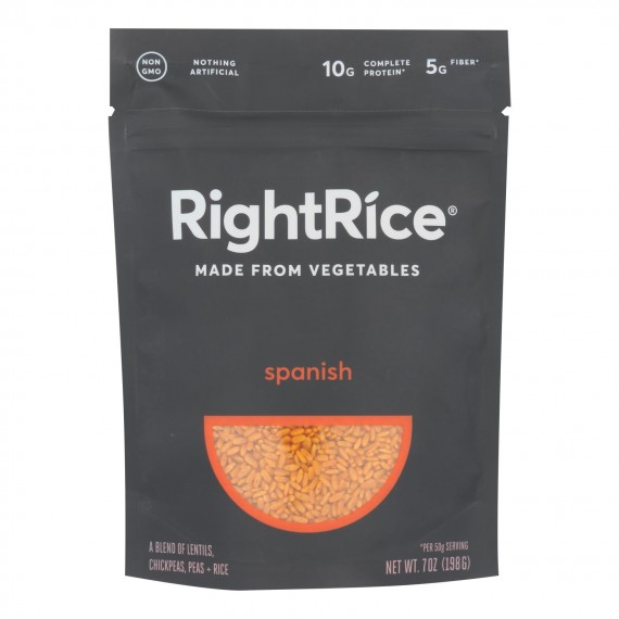 Right Rice - Made From Vegetables - Spanish - Case Of 6 - 7 Oz.