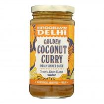 Brooklyn Delhi - Golden Coconut Curry Simmer Sauce - Case Of 6 - 12 Oz