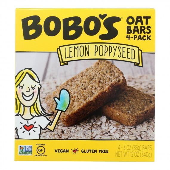 Bobo's Oat Bars - Oat Bar - Lemon Poppyseed - Case Of 6 - 4 Pk
