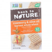 Back To Nature - Crackers Rsmry&olive Oil - Case Of 12 - 8.5 Oz