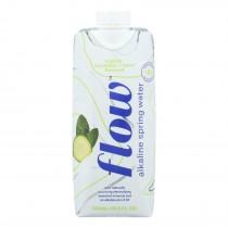 Flow - Sprg Water Alka Cuc Mint - Case Of 12 - 500 Ml