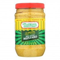 Nathan's Famous, Mustard - Case Of 12 - 16 Oz