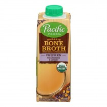 Pacific Natural Foods - Bone Broth Chicken Cham - Case Of 12 - 8 Fz