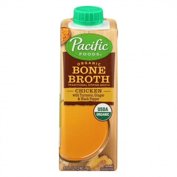 Pacific Natural Foods - Bone Broth Ckn Trm Pp - Case Of 12 - 8 Fz