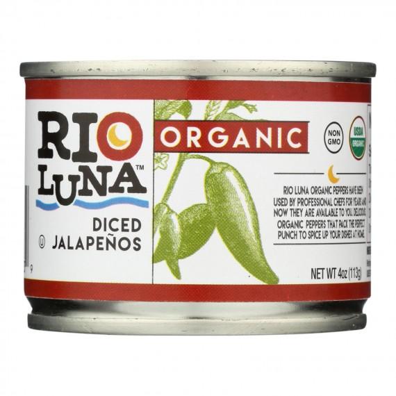Rio Luna Organic Diced Jalapenos - Case Of 12 - 4 Oz