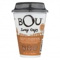 Bou - Soup Cup - Shiitake Mushroom And Beef - Case Of 6 - 1.6 Oz.