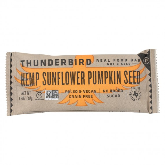 Thunderbird - Real Food Bar - Hemp Sunflower Pumpkin Seed - Case Of 15 - 1.7 Oz.