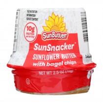 Sunbutter - Snflwr Butter W/bagel Chips - Case Of 12 - 2.5 Oz