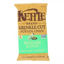 Kettle Brand - Krinkle Cut Potato Chips - Wasabi Ranch - Case Of 15 - 5 Oz.