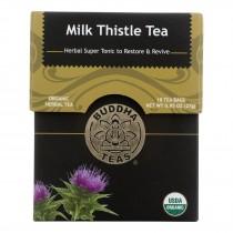 Buddha Teas Organic Herbs Tea Bags - Milk Thistle - Case Of 6 - 18 Count