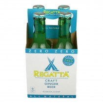 Regatta Ginger Beer 4 Pack - Zero Calorie - Case Of 6 - 4/8.45fl Oz