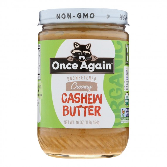 Once Again - Cashew Butter - Case Of 6-16 Oz