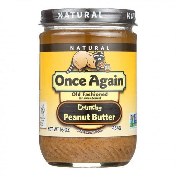 Once Again - Peanut Butter Crunchy Salt - Case Of 6-16 Oz