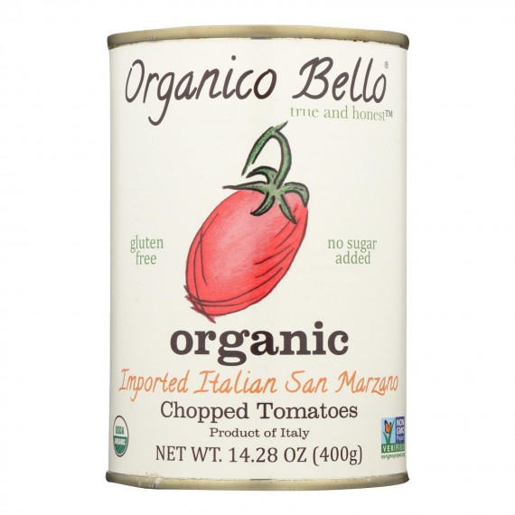 Organico Bello Tomatoes - Organic - Chopped - Case Of 12 - 14.28 Oz