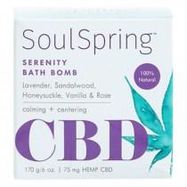 Soulspring - Bath Bomb Stimulating Cbd - Ea Of 1-6 Oz
