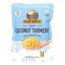 Village Harvest - Rice Coconut Tumerc Peach - Case Of 6 - 8.5 Oz