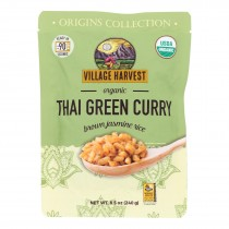 Village Harvest Organic Brown Jasmine Rice - Case Of 6 - 8.5 Oz