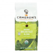 Cameron's Coffee Organic Coffee - Breakfast Blend - Case Of 6 - 10 Oz