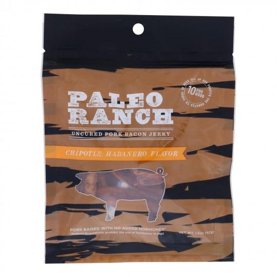 Paleo Ranch - Jerky Bacon Chiptl Hbnero - Case Of 8 - 1.5 Oz