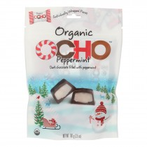 Ocho Candy Organic Dark Chocolate Filled With Peppermint - Case Of 12 - 3.5 Oz