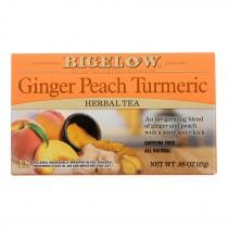 Bigelow Tea - Tea Ginger Peach Tumeric - Case Of 6 - 18 Bag