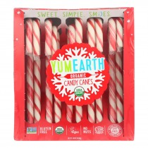 Yumearth - Candy Cane Y Hol 10ct - Case Of 12 - 4.94 Oz