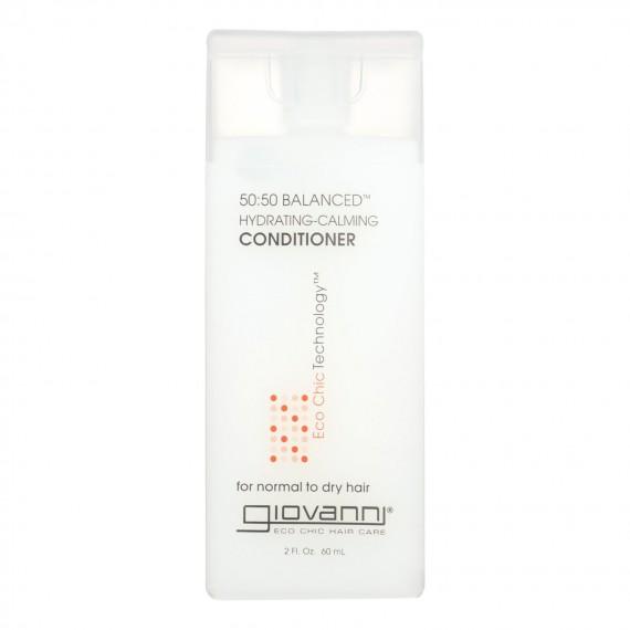 Giovanni 50-50 Balanced Conditioner Hydrating-calming - 2 Fl Oz - Case Of 12