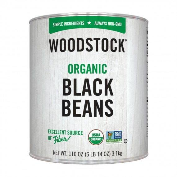 Woodstock Beans - Organic - Black - Case Of 6 - 110 Oz