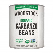 Woodstock Beans - Organic - Garbanzo - Case Of 6 - 110 Oz