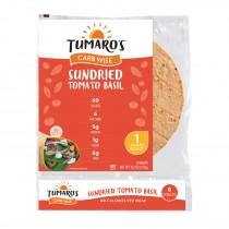 """Tumaro's 8"""" Carb Wise Tortilla Wraps - Tomato Basil - Case Of 6 - 8 Count"""