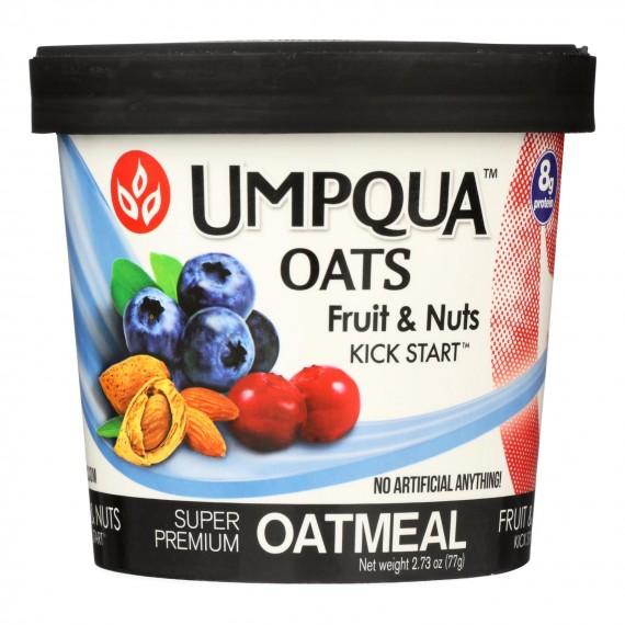 Umpqua Oats - Oatmeal Fruit & Nut Cup - Case Of 8-2.72 Oz