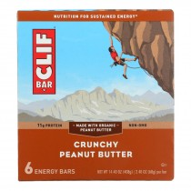 Clif Bar Bar - Organic - Crunchy Peanut Butter - Case Of 9 - 6/2.4 Oz