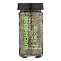Spicely Organics - Organic Green Peppercorn - Case Of 3 - 1.2 Oz.