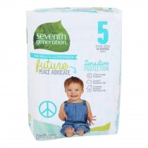 Seventh Generation - Baby Diaper Stage 5 27-35lb - Case Of 4-19 Ct