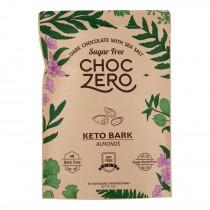 Choczero - Keto Bark Dark Chocolate Almonds - Case Of 12-6 Oz