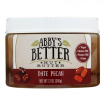 Abby's Better Nut Butter - Date Pecan Nut Butter - Case Of 6 - 12 Oz.