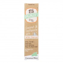 Dr. Ginger's - White Charcoal Toothpaste - 4 Oz.